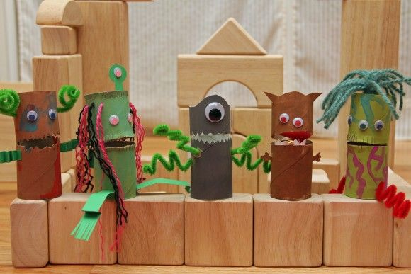 Creature finger puppets from pi'ikea street