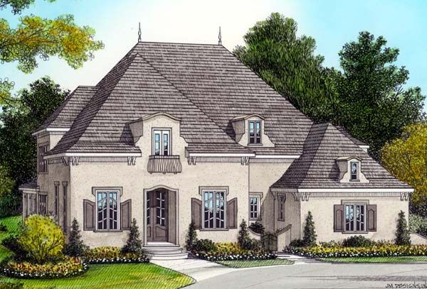Country Style House Plan 53801 With 4 Bed 5 Bath 3 Car Garage Country French Floor Plans French House Plans French Country House