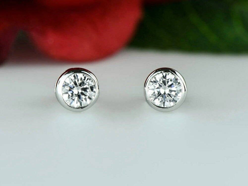 Lab Grown Diamond Earring Made In Usa Igi Certified 1 4 1 2 Ct Etsy Diamond Engagement Band Diamond Wedding Jewelry Diamond Earrings
