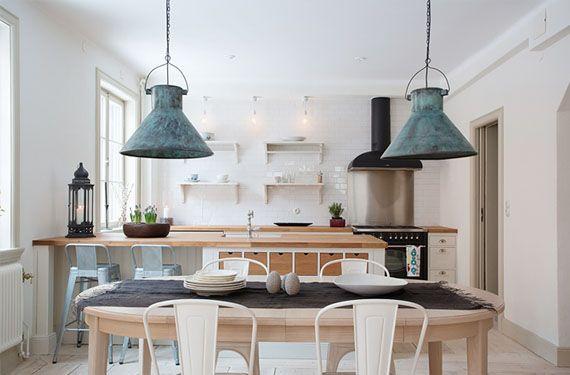 Resultado de imagen para lamparas para living y comedor cabaña de