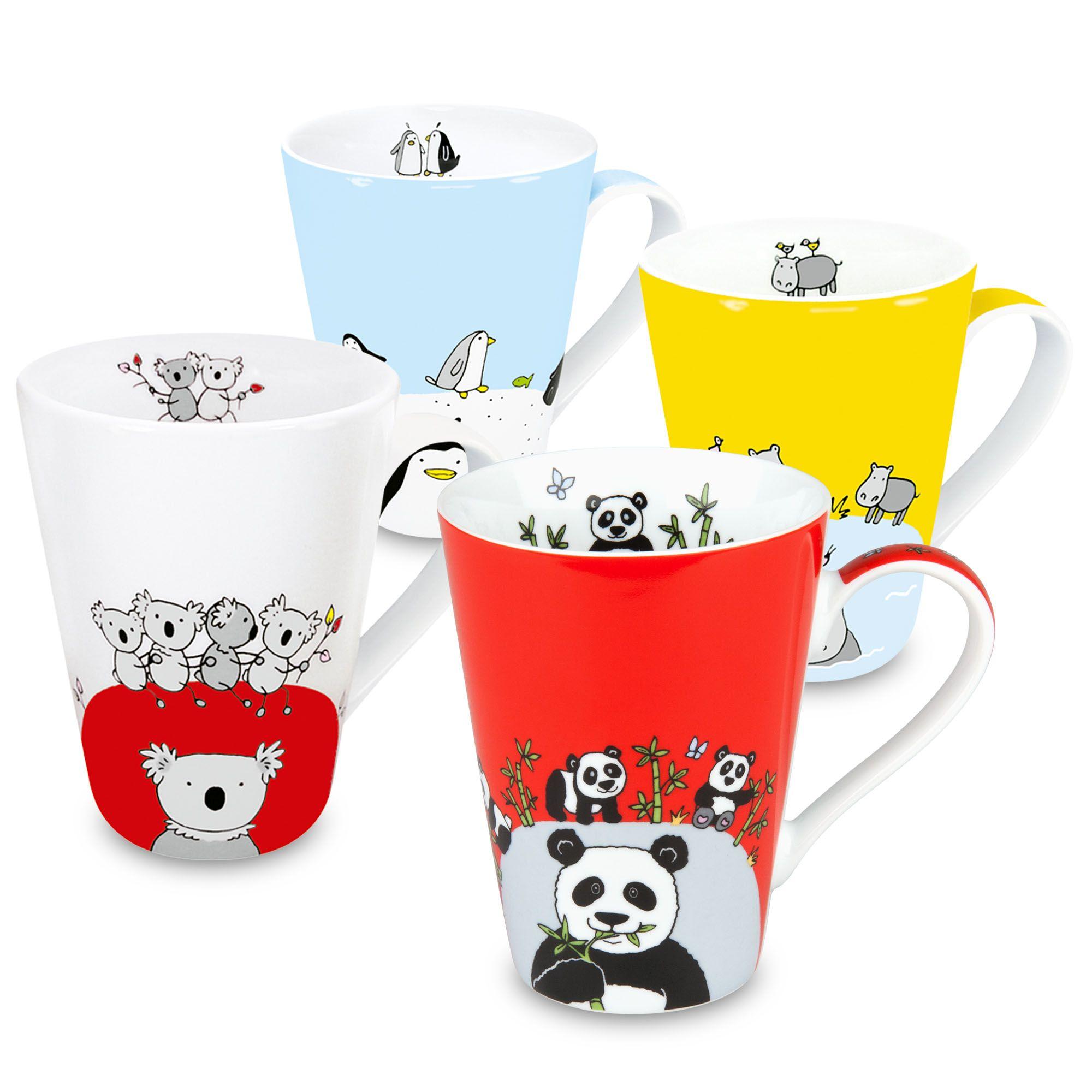 Globetrotter Zoo Animal Mugs (Panda, Hippo, Koala, Penguin ...