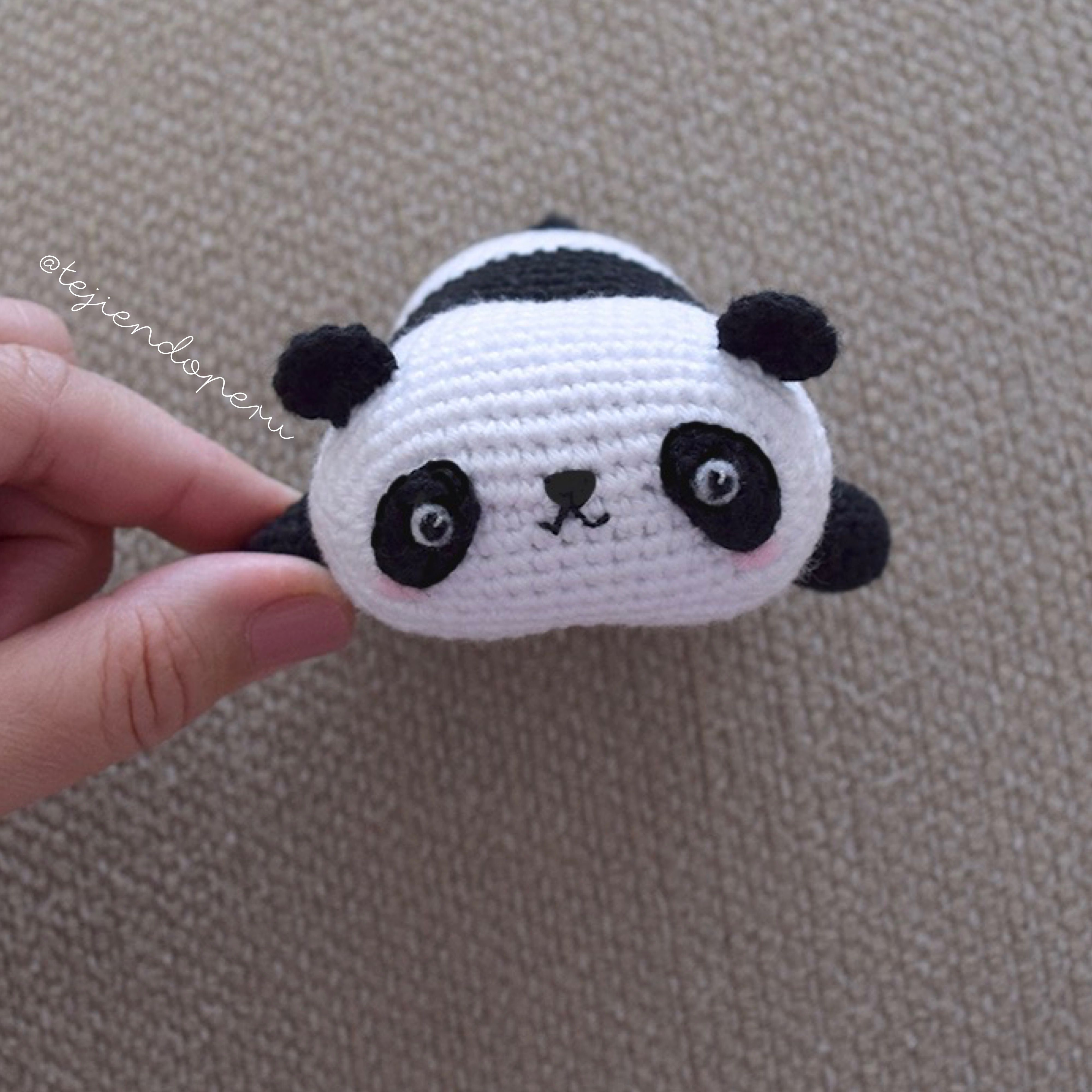 Panda kawaii! Paso a paso en crochet amigurumi | Crochet | Pinterest ...