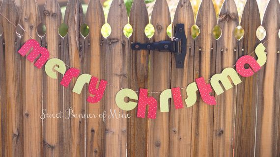 Merry Chirstmas Banner by sweetbannerofmine on Etsy