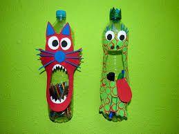 Resultado de imagen para manualidades con botellas de plastico animales