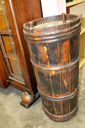 Fresh Water Barrel From Old Sailing Ship Of 1700 1800s Has Nine Hoops Made By A Wet Cooper Maybe Not One Of A K Old Sailing Ships Water Barrel Wooden Barrel