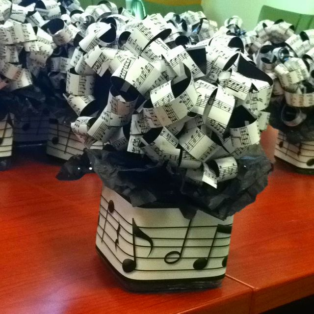 Musical no budget centerpieces things i ve made