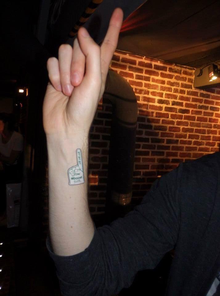 After-run tattoo pop-up #boostbastille