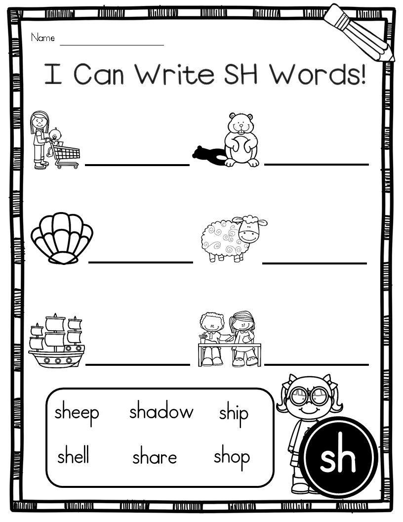 Sh Words Printables And Activities Sh Words Phonics Practice Phonics [ 1056 x 816 Pixel ]