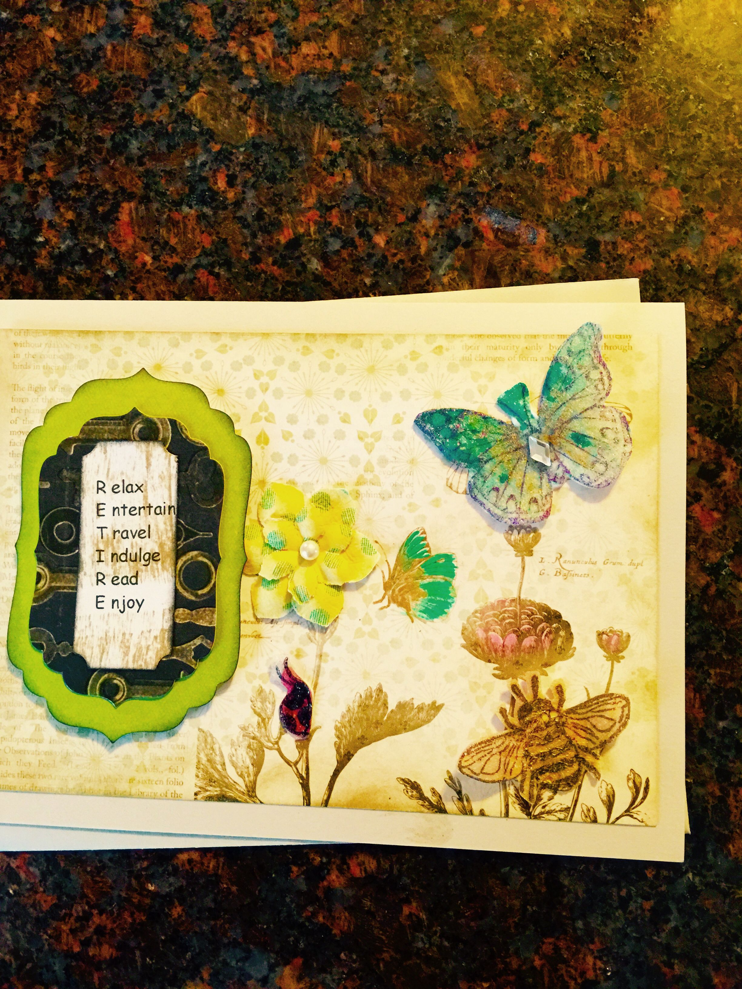 Handmade retirement card rickius handmade cards pinterest