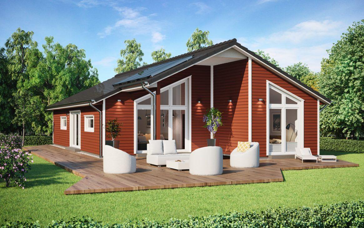Fertighaus Bungalow Sh 147 B Mit Holz Fassade Scanhaus Marlow Hausbaudirekt Fertighaus Bungalow Bungalow Holzhaus Fertighaus