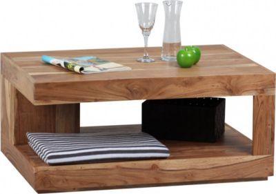 Holz Wohnzimmertisch ~ Wohnling wohnling couchtisch massiv holz akazie cm breit design
