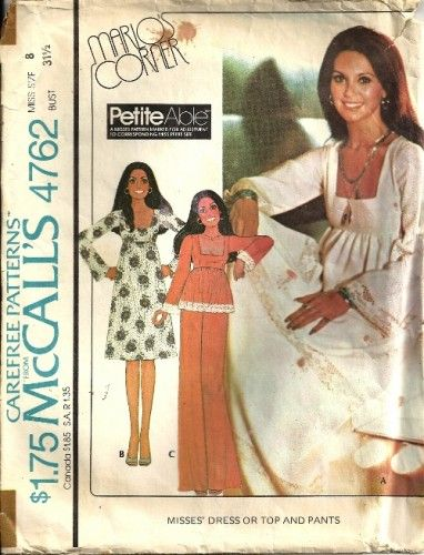 937ca8c79f4f McCalls 4792 Misses Dress Top Pants Vintage Sewing Pattern Size 8 in ...