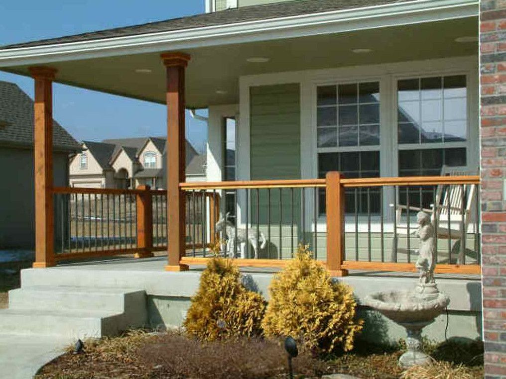 Front porch railings and posts 3 pinterest front for Front balcony railing