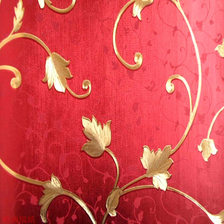 Gold Background Wall Quality Gold And Silver Foil Wallpaper Red - goldene tapete modern design