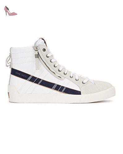 DIESEL - Baskets basses - Homme - Sneakers Montante D-String Plus Blanche  pour homme 29afd386b0c4