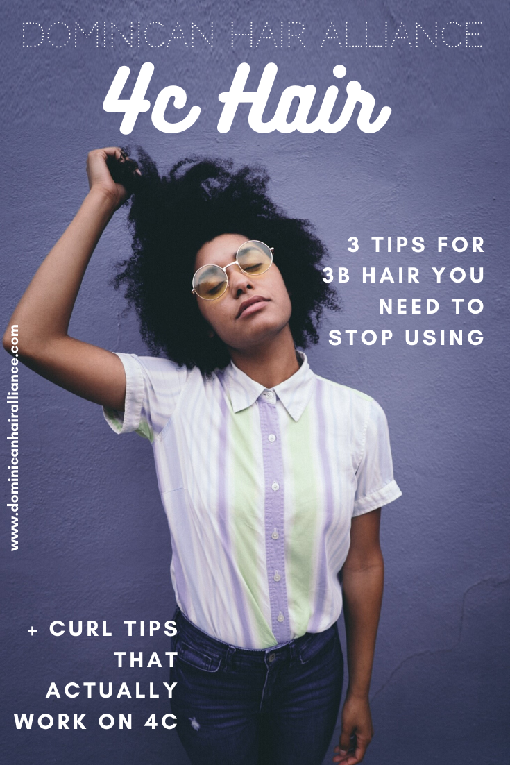 Most curly advice and curly hair products are based on Type 3 hair - 3b to be exact. But often what works for Type 3  is the OPPOSITE of what works for 4c hair. These three 3b hair tips in particular are a disaster for most 4cs... #4chair #4chairtips #Type4hair #Type3hair #3bhair #naturalhair #lowporosityhairtips #naturalhairroutine