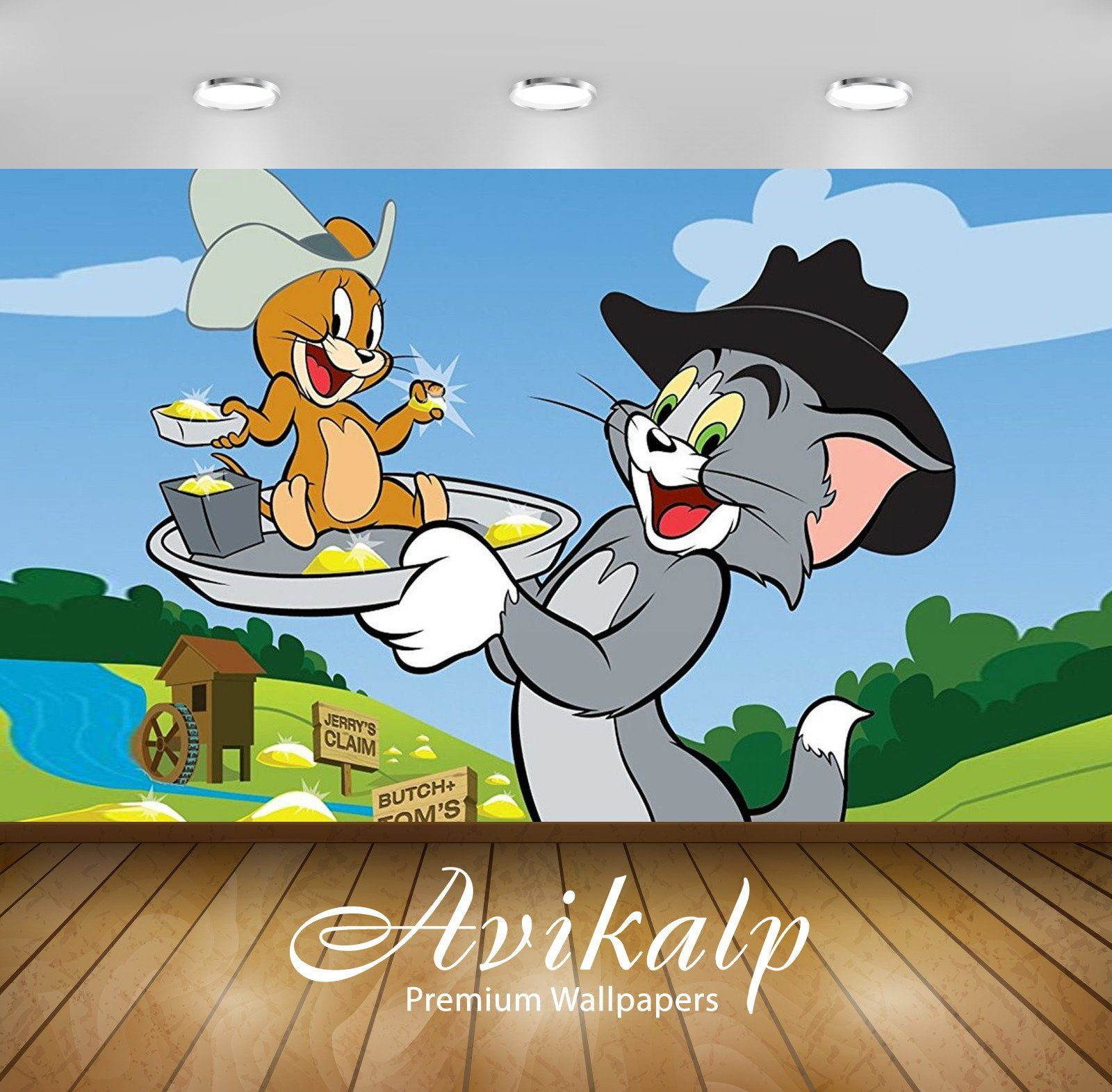 Avikalp Exclusive Awi2263 Tom And Jerry Go Back In Time Full Hd Wallpapers For Living Room Hall Ki Kids Room Wallpaper Wallpaper Living Room 3d Wallpaper Living Room