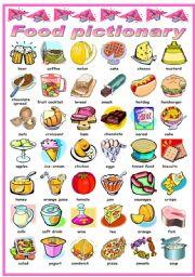 Znalezione obrazy dla zapytania food and drinks worksheets