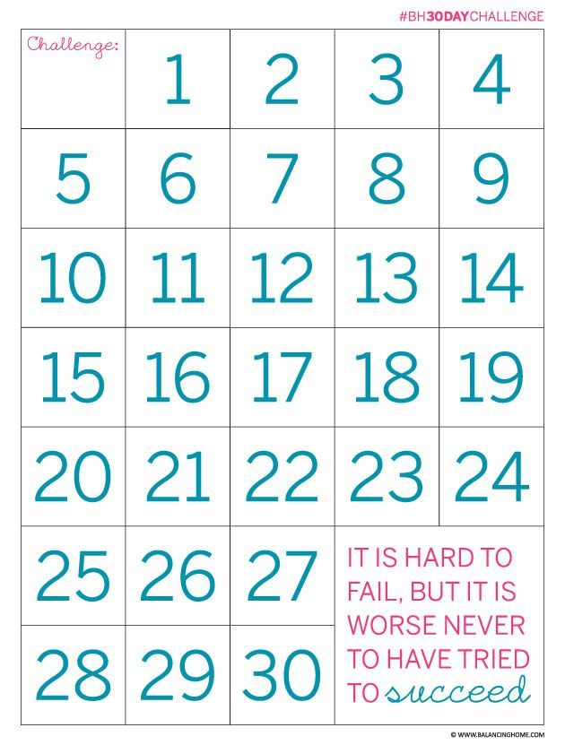 day challenge count down printable perfect for exercise weight loss home organization or whatever goals you have also the next days top bloggers cleaning and tips rh pinterest