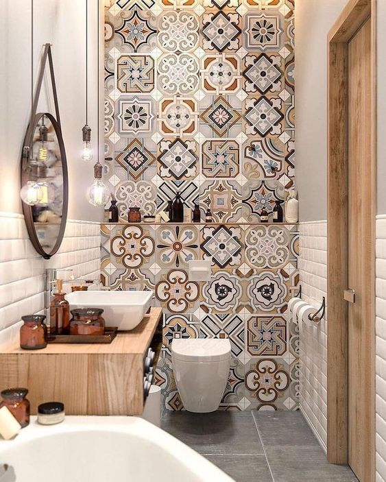 Photo of Inspiratie voor de inrichting en styling van een stijlvol en kleurrijk toilet –
