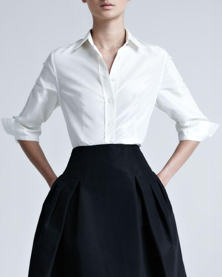 Camisa De Vestir De Seda Blanca En 2019 Camisas De Vestir
