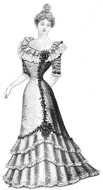 41b9e4fbc0c6 Components of an 1890s Evening Gown 1898 dress | An Ideal Husband ...