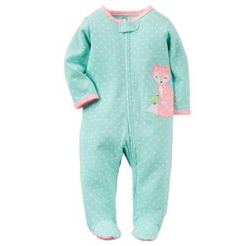 NWT Carters Infant Girl's Footed Blanket Sleeper Sleep & Play ...