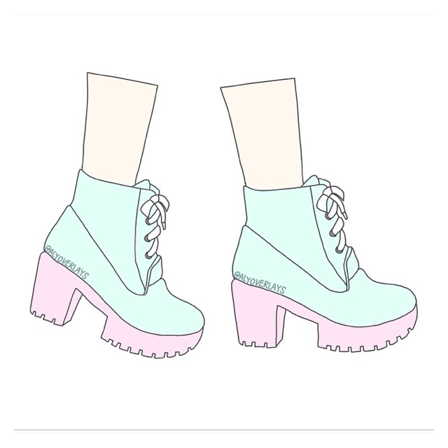 caterpillar shoes tumblr sketches aesthetic quotes pastel