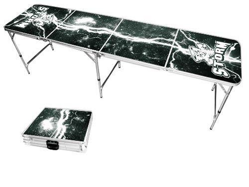 Lake Erie College Storm Lightning Bolt Portable Folding Table