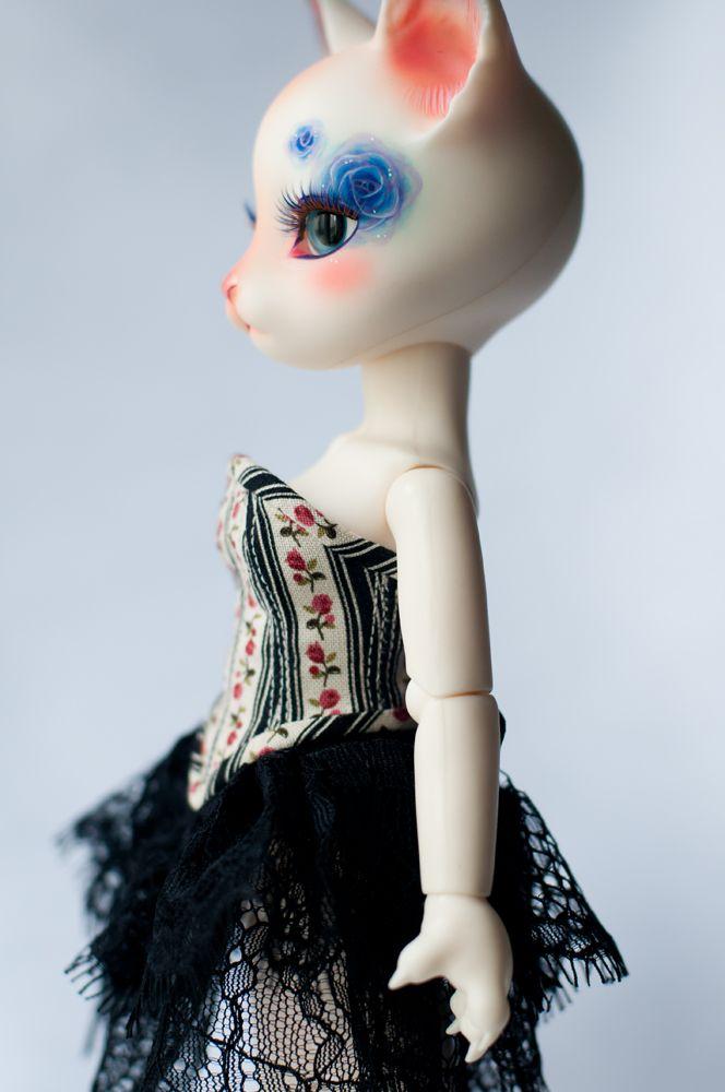 #BJD #doll #Pipos #Yo-SD #dress #lace #craft #handmade #LenivkaShop #PblCb #cat