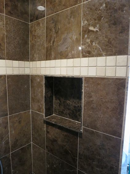 What To Do About Cold Spots In Bathroom Shower Traditional Bathroom Bathrooms Remodel Shower Niche