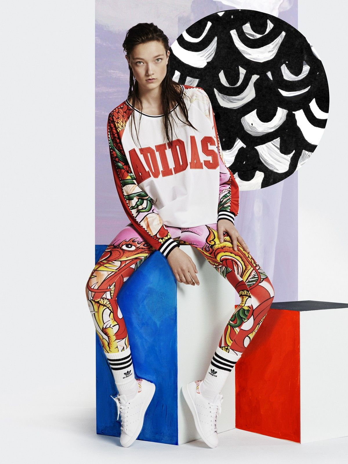 premium selection a53ee 3c696 Adidas Rita Ora Dragon Print Collection