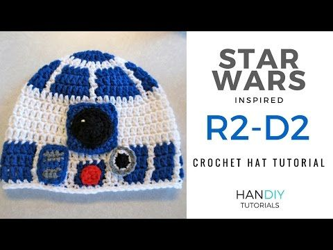 HanDIY Tutorials: R2-D2 Droid Crochet Hat Tutorial inspired by Star ...