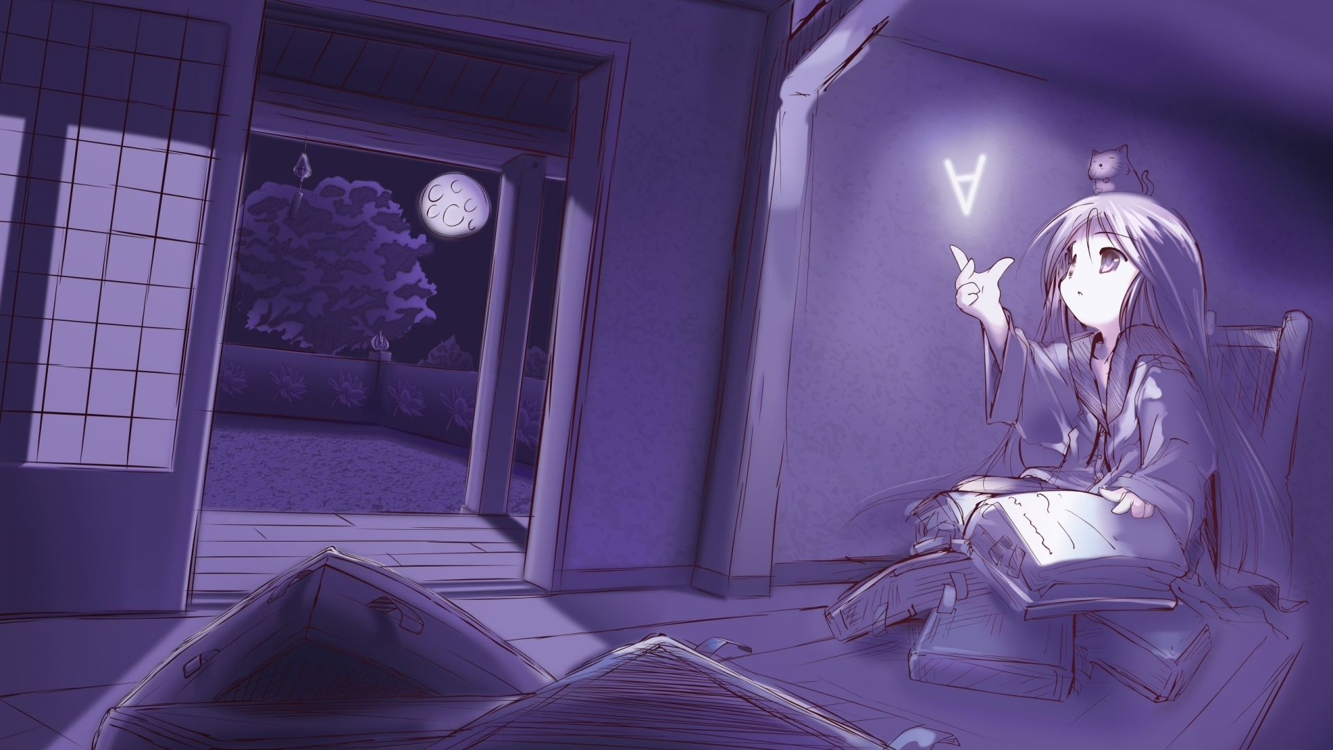 1920x1080 Wallpaper room, book, read, evening | William ...