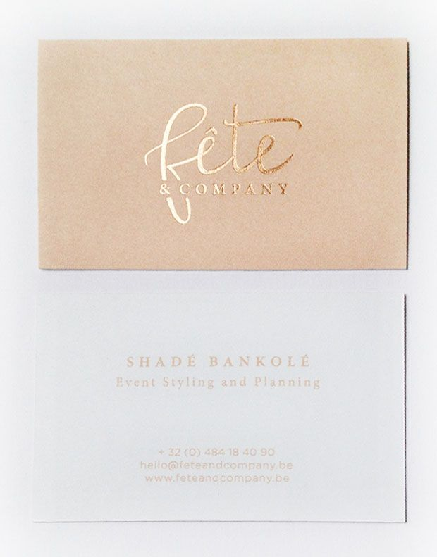 Logo design \ business cards with letterpress and copper foil - card