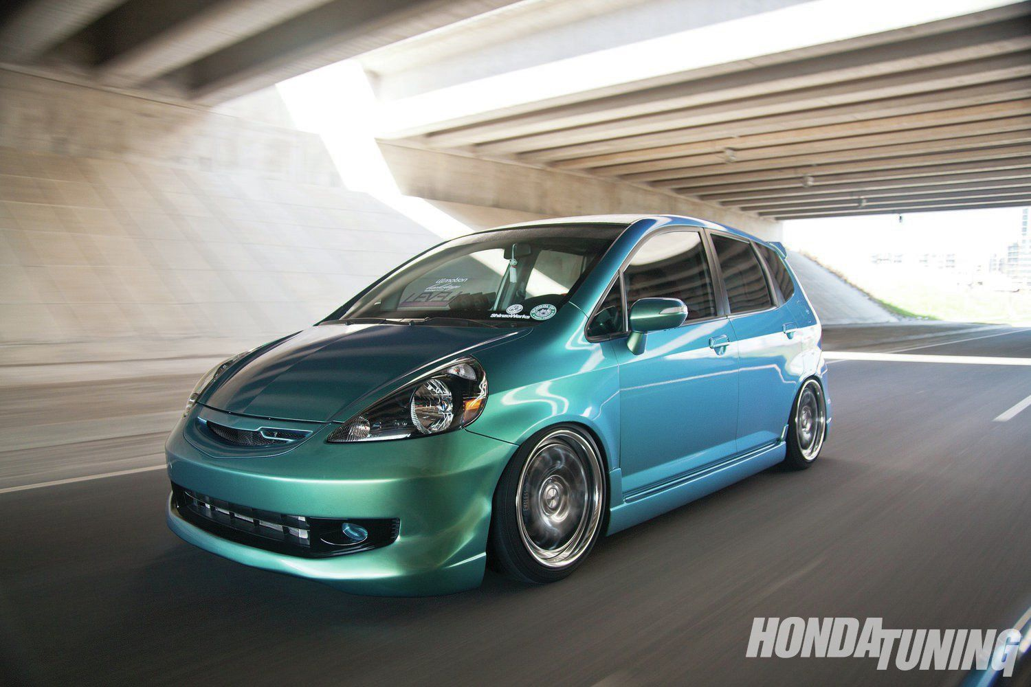 Honda tuning Fit Gd on SSR rims and KenStyle Bodykit