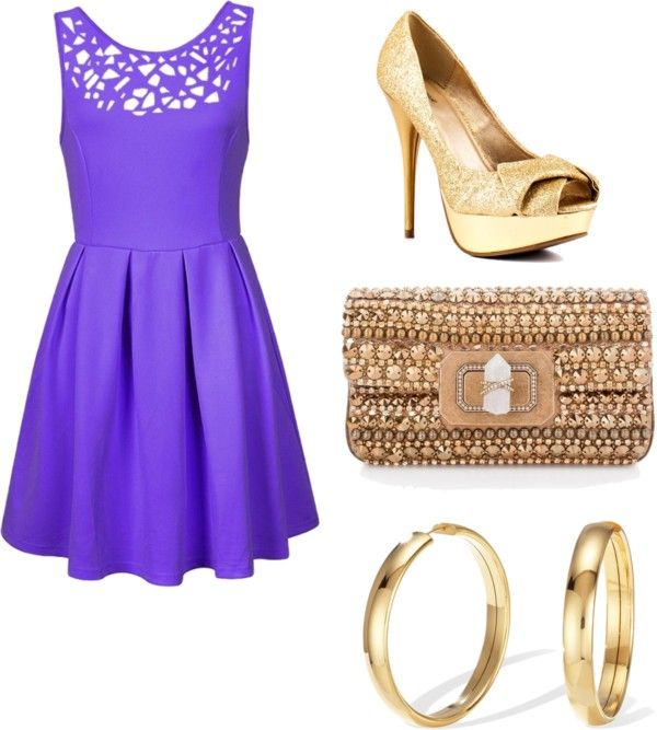 """""""Purple and Gold"""" by bombaloo on Polyvore"""