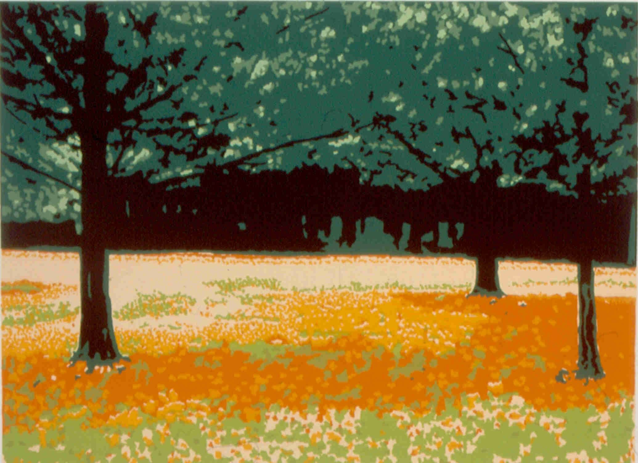 COOK FOREST AUTUMNSerigraph in 8 colors limited edition