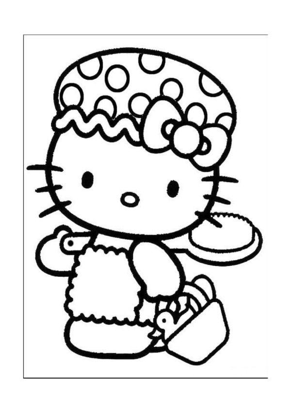 Hello Kitty Kleurplaten Voor Kinderen Kleurplaat En