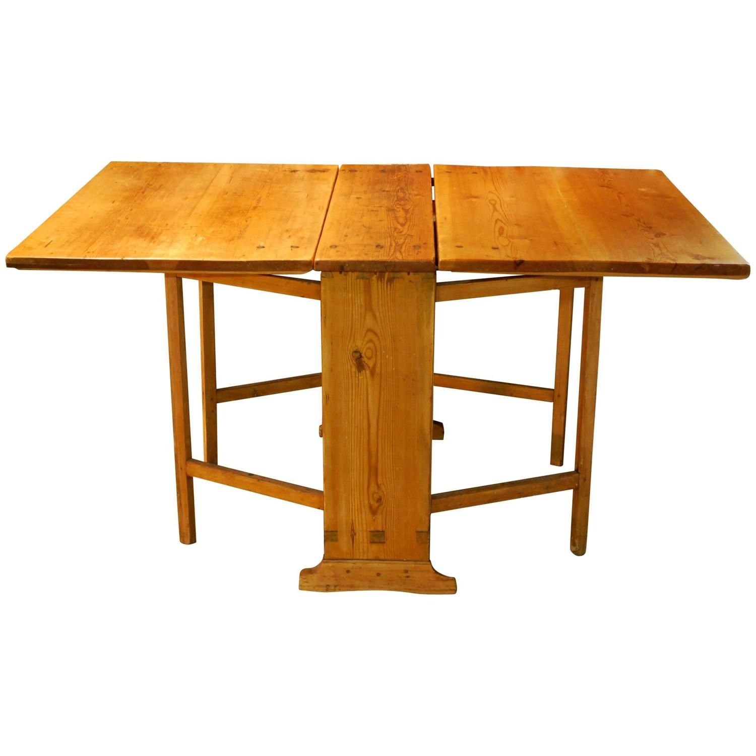 Four In One Game Table #35 - Antique Swedish Gate Leg Table, Circa 1830 U0027Four Tables In Oneu0027