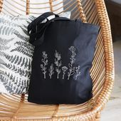 Hochzeitstasche, Brautparty-Einkaufstasche, Brautjungfern-Einkaufstasche Blume, Pflanzen-Einkaufstasche …