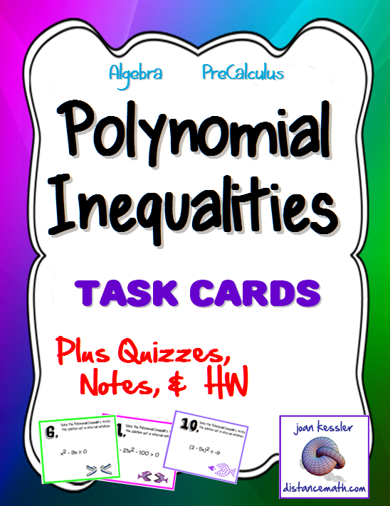 Polynomial Inequalities Task Cards Guided Notes Quiz – Polynomial Inequalities Worksheet