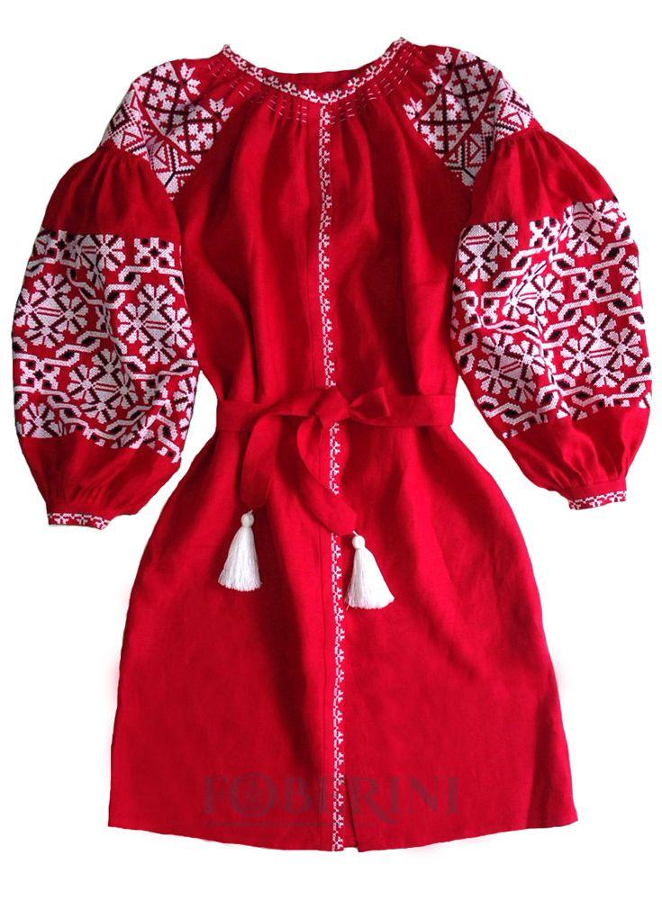 Магазин национальной одежды FOBERINI предлагает широкий выбор вышиванок с  аутентичным орнаментом. Платье-вышиванка купить 24202d16a16f9