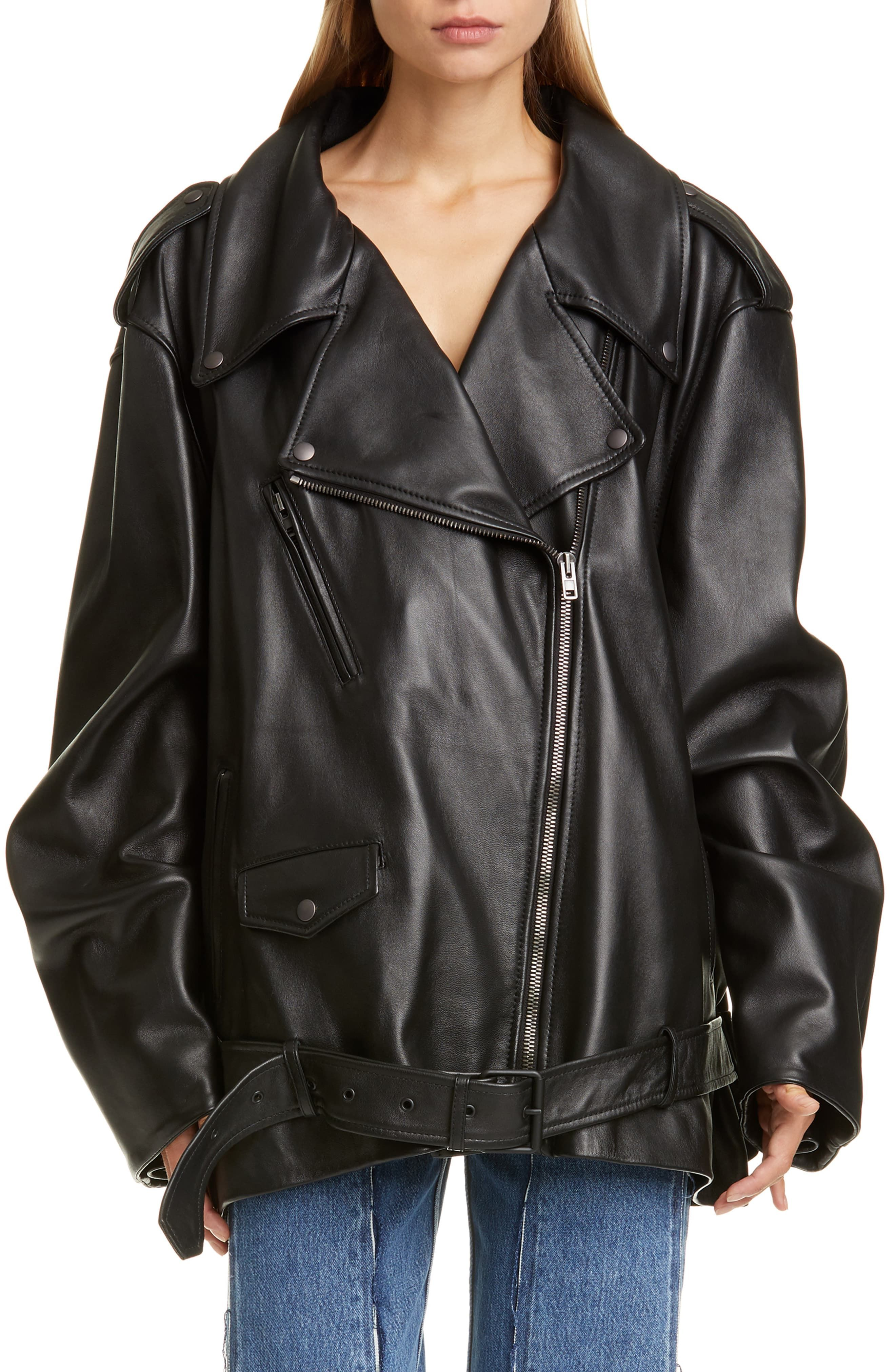 Oversize Lightweight Leather Moto Jacket Leather Moto Jacket Jackets Leather Moto Jacket Womens [ 4048 x 2640 Pixel ]