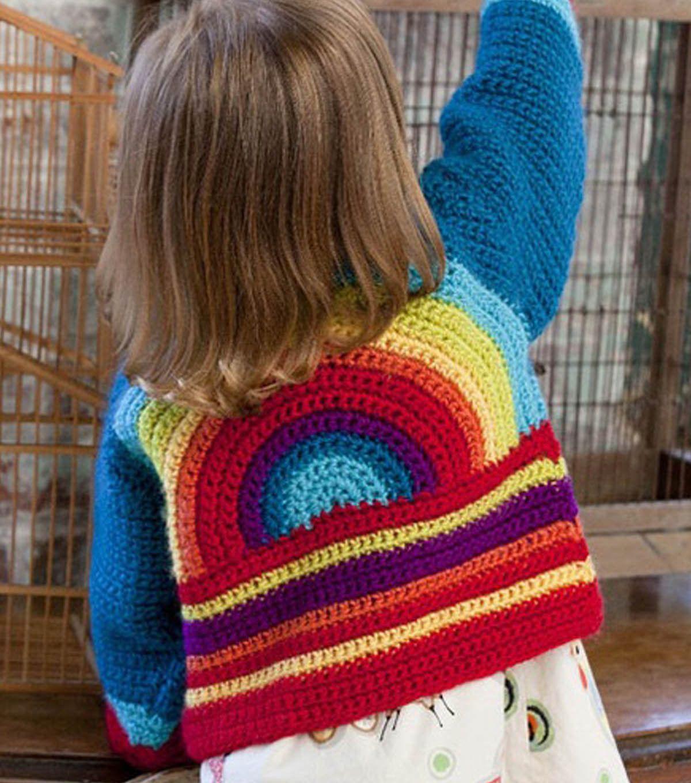 Rainbow Sweater at Joann.com | crochet stuff | Pinterest | Rainbows ...