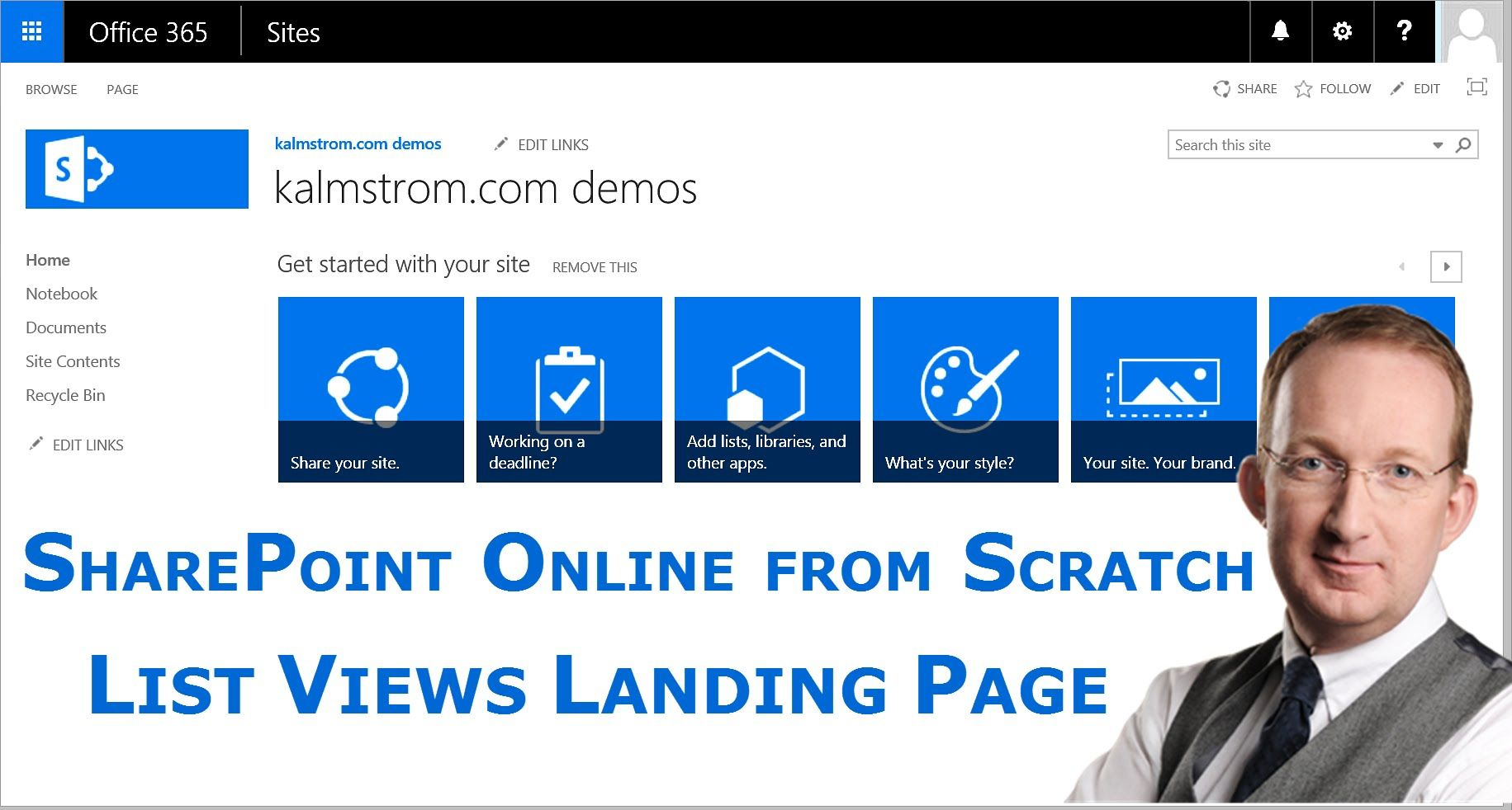 SharePoint List Landing Page* Create a landing page with all list ...