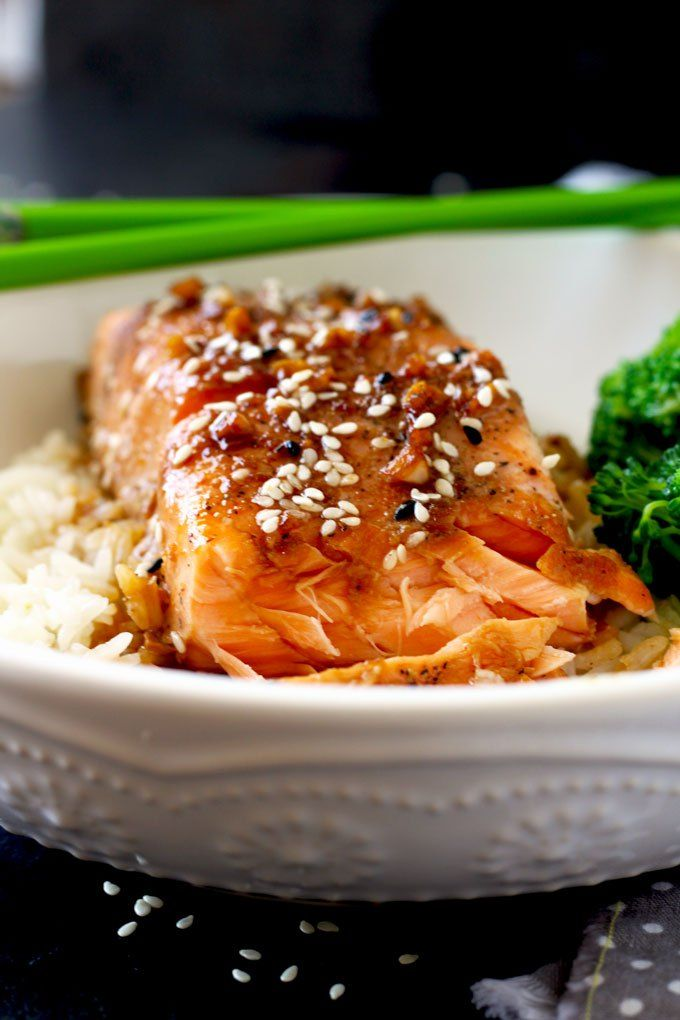 This Asian Inspired Honey Ginger Salmon Is Not Only -9285