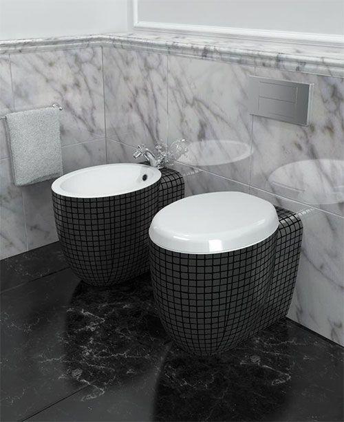 Ideen Für Wc Design Stilvolles Badezimmer Schwarz   Toilets ... Ideen Fur Wc Design