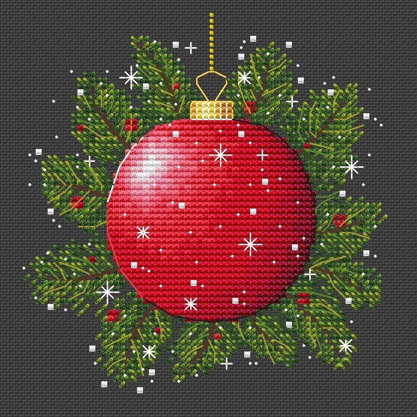 Christmas Ornament Counted Cross Stitch Pattern Pdf Christmas Etsy In 2020 Cross Stitch Christmas Ornaments Needlework Christmas Christmas Cross Stitch