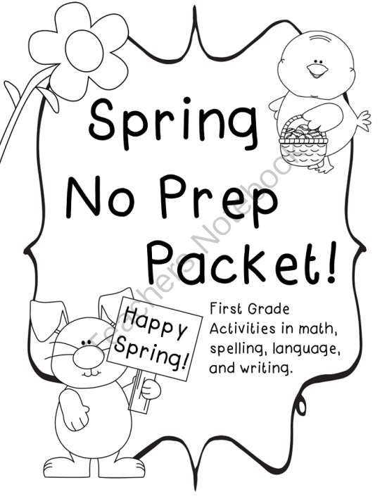 Spring Themed No Prep Packet from Pride and Primary on